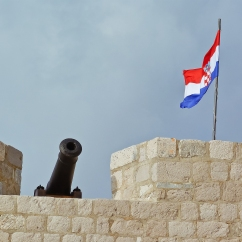 Dubrovnik, Croatia: Cannon at the fort