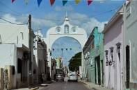 Merida, Mexico: One of the old city gates.