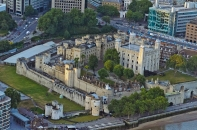London, England: View from The Shard: Tower of London