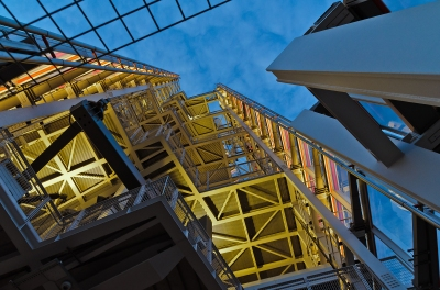 London, England: Looking up to the top of the Shard