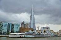 On The Thames in London, England: The Shard