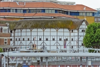On The Thames in London, England: Shakespeare's Globe Theater
