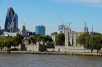London, England: View from Tower Bridge