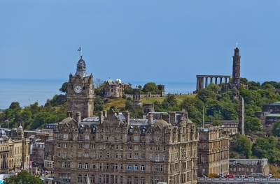 Looking Toward Calton Hill, which I had been standing on the previous evening.