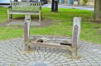 19th century village stocks