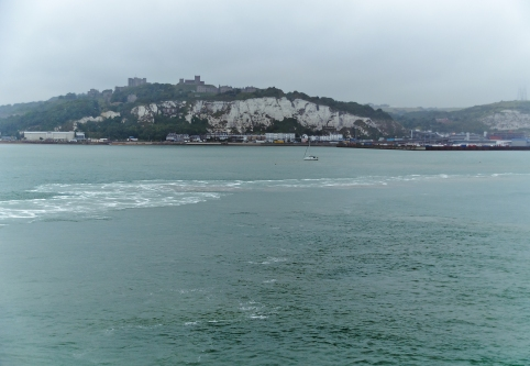 View from the Ferry: White Cliffs of Dover