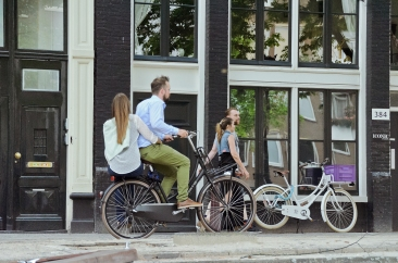 Amsterdam, The Netherlands: Side-saddle bike seat.