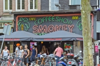 """Amsterdam, The Netherlands: One of the ubiquitous """"coffee"""" shops"""