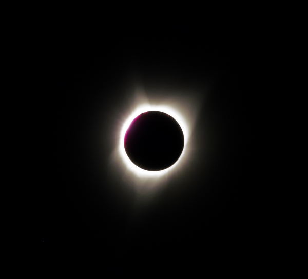 Total eclipse. Aurora, Oregon - August 21, 2017