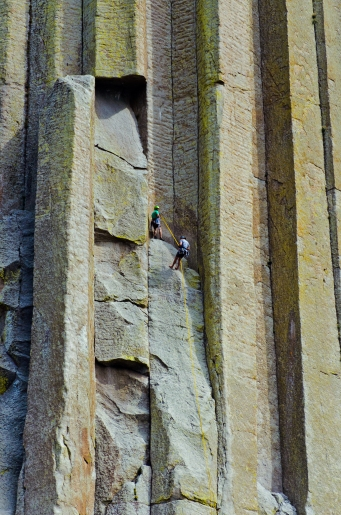 Climbers on the tower.