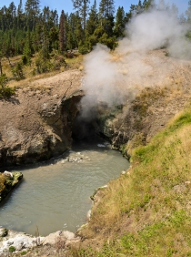 Dragon's Mouth Spring - Yellowstone National Park - August, 2017