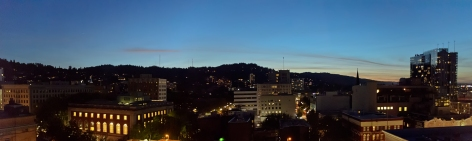 View from my apartment- Portland, Oregon - August, 2017