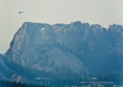 View of Mount Rushmore from a scenic lookout on Iron Mountain Road - South Dakota - September, 2017