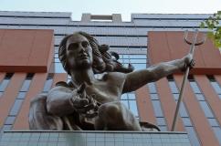 Portlandia Statue. Portland, Oregon - August, 2017