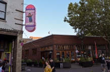 Famous doughnut shop with lines out the wazoo. Portland, Oregon