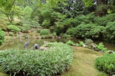 Japanese Garden. Portland, Oregon - August, 2017