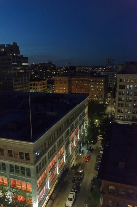 Portland at twilight, viewed from my apartment.