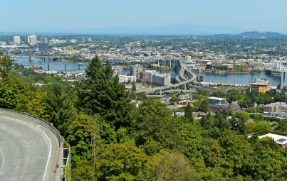 View from Marquam Hill (Oregon Health & Science University).