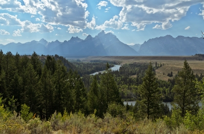 Snake River. This is almost the exact same spot from where Ansel Adams took his famous photo.