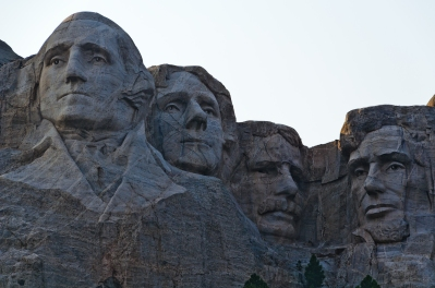 A good look at the upper torso of Washington, which was never completed. The original intent was to carve all four presidents from head to waist.