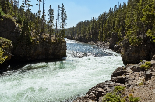 Grand Canyon of the Yellowstone: Brink of the Upper Falls