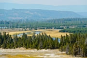 View from Grand Prismatic Spring Lookout Trail.