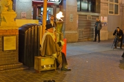 London, England: Chinatown: Can you blow fire out of your tuba?