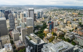 View from the Columbia Center Sky View Observatory