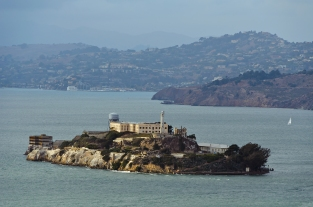 San Francisco: View of Alcatraz from Coit Tower