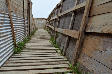 WW1 Trench Replica. The Citadel, Halifax, Nova Scotia, Canada