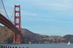 San Francisco: Standing near where Kim Novak jumped into the wat