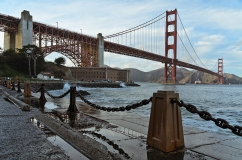 San Francisco: The water is from the crashing waves.