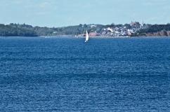 Lunenburg from a distance. Nova Scotia, Canada